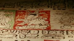 Mayan Codex, extr closeup Stock Footage
