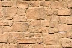 stone brickwork of a walkway - stock photo