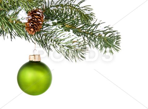 Stock photo of green ornament