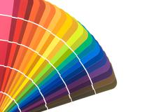 Paint color cards Stock Photos