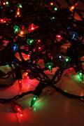 Multi-Colored Xmas Lights Stock Photos