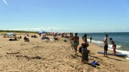 Stock Video Footage of Tourists race point beach Provincetown Cape Cod