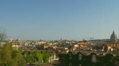 Rome landscape view (ideal for titles) 2 Stock Footage
