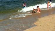 Stock Video Footage of Cooling off at race point beach Provincetown Cape Cod