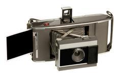 Antique instand print camera Stock Photos
