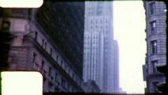 EMPIRE STATE BUILDING Skyscraper NYC 1950s (Vintage Film Home Movie) 5193 - stock footage