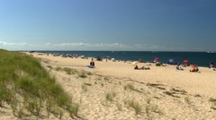 Cape Cod Provincetown race point beach Stock Footage