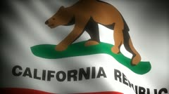 Flag of California (seamless) Stock Footage