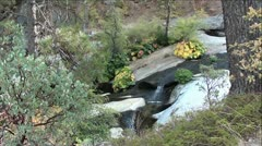 Beautiful Mountain Creek and Waterfalls in Sierra Nevada Mountains, California Stock Footage