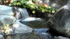 Rock Creek Waterfalls in Sierra Nevada Mountains, California Stock Footage