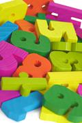 Child toy wooden letters Stock Photos