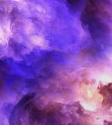 abstract genesis clouds painting - stock illustration