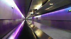 Stock Video Footage of Frankfurt International Airport Germany tunnel