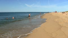 Waters edge race point beach Ptown Cape Cod Stock Footage