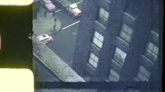 Street Scene Below NEW YORK CITY From Window Late 1940s Vintage Home Movie 5208 Stock Footage