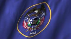 Utah Waving Flag Stock Footage