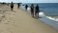 Stock Video Footage of Waters edge race point beach Ptown Cape Cod; 3