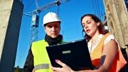Construction team Stock Footage