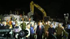 PM Benjamin Netanyahu with top Israeli leaders in earthquake simulation drill Stock Footage