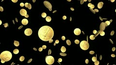 Looping gold coin animation - seamless loop, alpha channel included Stock Footage