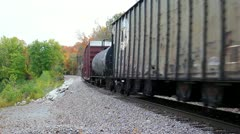 Pan of end of train - stock footage