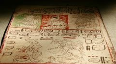 Mayan Codex, tilt Stock Footage
