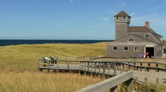Ptown coast guard station Cape Cod Stock Footage