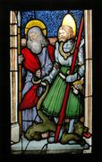 stained glass window. - stock photo