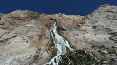 Manmade Waterfall in Gibraltar Stock Footage