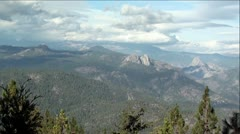 Pan of Sierra Nevada Mountains, California - stock footage