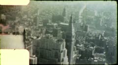 Stock Video Footage of NEW YORK CITY SKYLINE Observation Deck 1950s (Vintage Film Home Movie) 5220