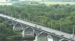 Bridge in Vladimir, Russia 001 Stock Footage