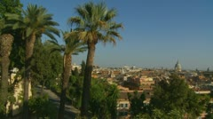 Rome landscape view (ideal for titles) 8 Stock Footage