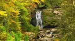 autumn waterfall tennessee - stock footage