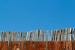 reed fence - stock photo