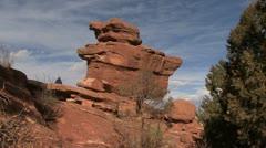 Colorado Garden of the Gods balancing rock Stock Footage