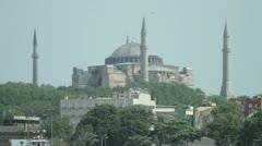 The Hagia Sophia in Istanbul Stock Footage