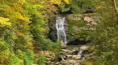 Beautiful autumn waterfall tennessee mountains Stock Footage