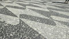 Texture boardwalk. RJ, Brasil - stock footage