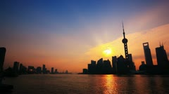 4K(two clips): Timelapse of Shanghai sunrise.>>>Please Search: Stock Footage