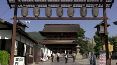 Gate To Zenkoji Stock Footage