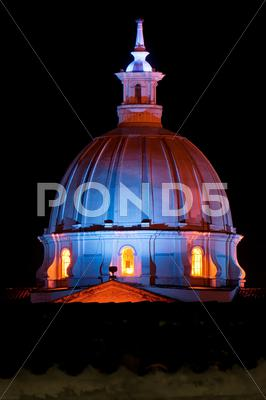 Stock photo of Church Dome at Night