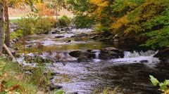 Scenic autumn rocky river Stock Footage