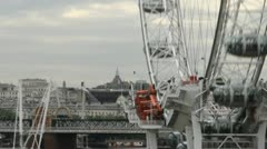 London time lapse of the London Eye and the Hungerford Bridge Stock Footage