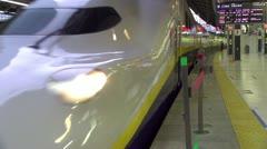 Shinkansen Departs Tokyo Station - stock footage