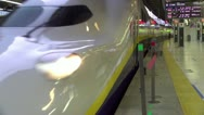 Shinkansen Departs Tokyo Station Stock Footage