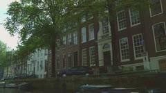 Canal houses Stock Footage