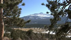 Colorado Rocky Mountain NP view - stock footage