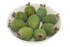 feijoa fruits - stock photo