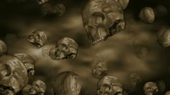 Scary Ancient Skulls Loop Stock Footage